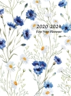 2020-2024 Five Year Planner: Five Year Monthly Planner 8.5 x 11 with Flower Coloring Pages (Hardcover Volume 1) Cover Image