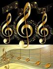 Music Manuscript Book: 120 pages of music manuscript paper. Each page containing 12 staves 8.5 x 11 Cover Image
