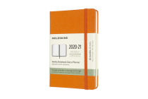 Moleskine 2020-21 Weekly Planner, 18M, Pocket, Cadmium Orange, Hard Cover (3.5 x 5.5) Cover Image