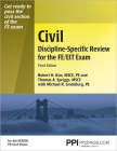 PPI Civil Discipline-Specific Review for the FE/EIT Exam, 3rd Edition (Paperback) – A Comprehensive Review with Practice Problems for the FE Exam – Covers Construction Management, Surveying, and More Cover Image