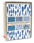 Blue & White Note Cards: 6 Blank Note Cards & Envelopes (4 X 6 Inch Cards in a Box) Cover Image