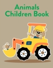 Animals Children Book: A Funny Coloring Pages, Christmas Book for Animal Lovers for Kids Cover Image