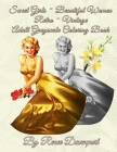 Sweet Girls Beautiful Women Retro Vintage Adult Grayscale Coloring Book Cover Image