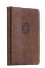 Nkjv, Thinline Bible Youth Edition, Leathersoft, Brown, Red Letter Edition, Comfort Print Cover Image