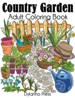 Country Garden Adult Coloring Book Cover Image