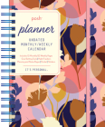 Posh: Planner Undated Monthly/Weekly Calendar: Pink Silhouette Floral Cover Image