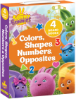 Sunny Bunnies: Colors, Shapes, Numbers & Opposites: 4 Board Books (Us Edition) Cover Image