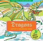 Dragons Adult Coloring Book Cover Image