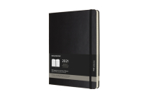 Moleskine 2021 Professional Weekly Vertical Planner, 12M, Extra Large, Black, Hard Cover (7.5 x 9.75) Cover Image