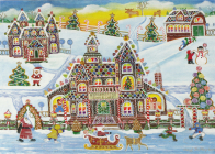 Gingerbread Village Deluxe Boxed Holiday Cards Cover Image