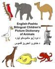 English-Pashto Bilingual Children's Picture Dictionary of Animals Cover Image