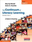 The Continuum of Literacy Learning, Grades PreK-2: A Guide to Teaching Cover Image