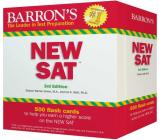 Barron's NEW SAT Flash Cards: 500 Flash Cards to Help You Achieve a Higher Score (Barron's Test Prep) Cover Image