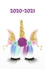 2020 - 2021: Einhorn - Licorne- Unicorn Wochenkalender für 2 Jahre - Kalender - Zielsetzung - Zeitmanagement - Produktivität - Term Cover Image
