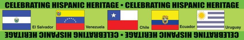 Celebrating Hispanic Heritage! Bulletin Board Borders (Non-State) Cover Image