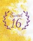 Sweet 16: Guest book - Sweet sixteen party book - Birthday Celebration - Party Guestbook for Guests to Leave Messages - 8x10 inc Cover Image