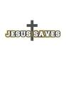 Jesus Saves: Notizbuch Geschenk-Idee - Karo - A5 - 120 Seiten Cover Image