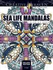 Creative Haven Deluxe Edition Sea Life Mandalas Coloring Book (Creative Haven Coloring Books) Cover Image