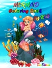 Mermaid Coloring Book for Kids: Mermaid Coloring Pages, Ages 4-8, Stress Relieving and Relaxing Coloring Book with Gorgeous Sea Creatures Cover Image