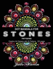 Dot Mandala for Stones Patterns: Stress Relief Coloring for Adults ( Black Background ) Cover Image