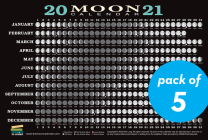 2021 Moon Calendar Card (5 pack): Lunar Phases, Eclipses, and More! Cover Image