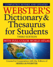 Webster's Dictionary & Thesaurus with Full Color World Atlas, Third Edition Cover Image