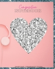 Composition Notebook College Ruled 8X10 inches: Large Silver Glow Pink College Notebook, Wide Ruled Paper Notebook Book for Girls, Kids, Teens and Wom Cover Image