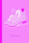 Notes: Ice Skating Notebook Journal- Perfect Ice Skating Gift for Figure Skater - 6x9- 100 Lined Blank Pages-Wide-Ruled-Gloss Cover Image