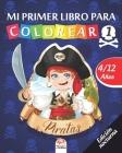 Mi primer libro para colorear - Piratas 1 - Edición nocturna: Libro para colorear para niños de 4 a 12 años - 25 dibujos - Volumen 3 Cover Image