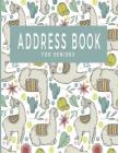Address Book For Seniors: Large Print Notebook With Tabs; Contacts Emails Birthdays Phone Numbers; Alpaca Design; Great For Parents Grandparents Cover Image
