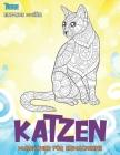 Malbücher für Erwachsene - Einfache Muster - Tiere - Katzen Cover Image