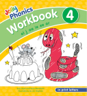 Jolly Phonics Workbook 4: In Print Letters (American English Edition) Cover Image