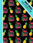 Dot Grid Notebook: Bright Tropical Flamingo and Pineapple Print - Dotted Bullet Style Notebook for Men and Women Cover Image