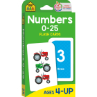Numbers 0-25 Flash Cards Cover Image