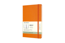 Moleskine 2020-21 Weekly Planner, 18M, Large, Cadmium Orange, Hard Cover (5 x 8.25) Cover Image