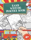 Hand Writing Practice Book: Policecar & Firetruck Coloring Book, Tracing Letters and Numbers for Preschool, Gift for Boys Cover Image