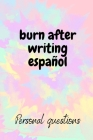 burn after writing español: Burn After Writing