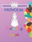 Princess Coloring Book: activity book, for Girls, fun, kids Cover Image