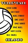 Volleyball Stay Low Go Fast Kill First Die Last One Shot One Kill Not Luck All Skill Orlando: College Ruled Composition Book Cover Image