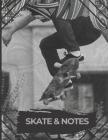 Skate & Notes: cahier noir et blanc skate / skateur Cover Image