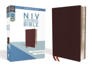 NIV, Thinline Bible, Bonded Leather, Burgundy, Red Letter Edition Cover Image