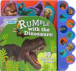 Discovery Rumble with the Dinosaurs!: 10 Noisy Dinosaur Sounds (Discovery 10 Button) Cover Image