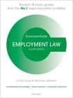Employment Law Concentrate: Law Revision and Study Guide Cover Image