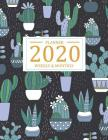 2020 Weekly and Monthly Planner: Calendar of 2020, from January 2020 - December 2020 by weekly and daily to do list schedule and appointment with dark Cover Image