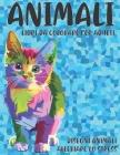 Libri da colorare per adulti - Disegni animali alleviare lo stress - Animali Cover Image
