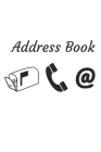 Address Book: With Alphabetical Tabs, For Contacts, Addresses, Phone, Email, Birthdays and Anniversaries Cover Image