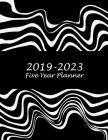 2019-2023 Five Year Planner: Classic Art Black Color, 8.5 X 11 Five Year 2019-2023 Calendar Planner, Monthly Calendar Schedule Organizer (60 Months Cover Image