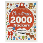 2000 Stickers Christmas Activity Book: Frosty, Festive, and Fun! Cover Image