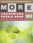 Large Crossword puzzles for Seniors: weekend crossword puzzle books for adults - More Crosswords Quiz for beginners Large Print for adults & senior - Cover Image