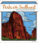 The Parks of the Southwest Adult Coloring Book Cover Image